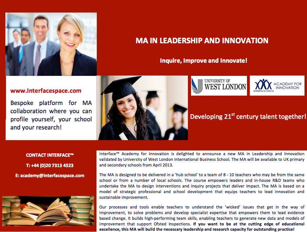 Launch of our MA in Leadership and Innovation